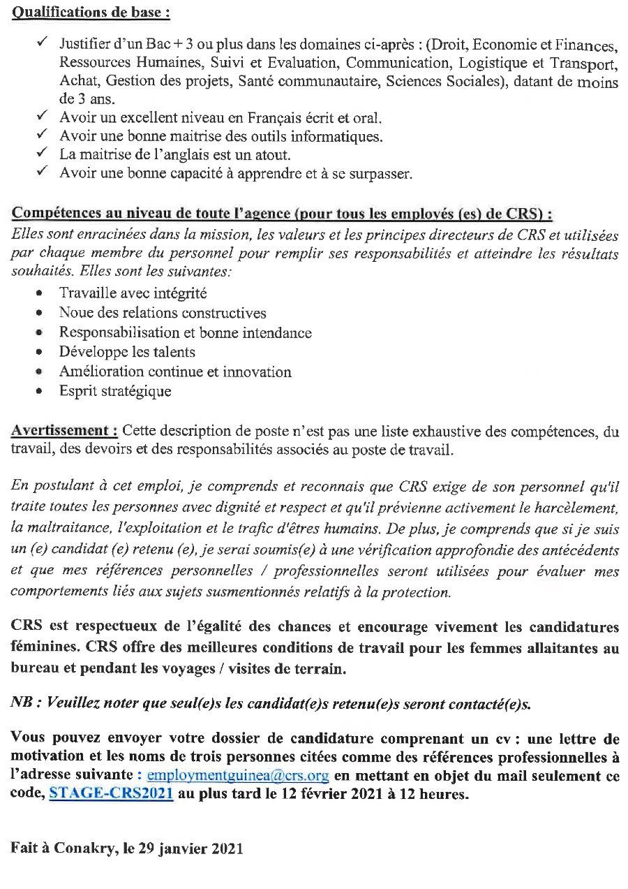 Offres d'emploi en guinée conakry p2