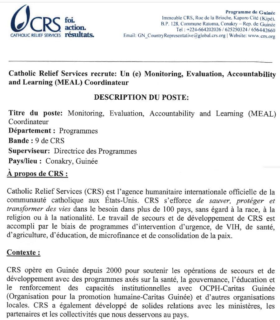 Recrutement en guinée conakry 2021