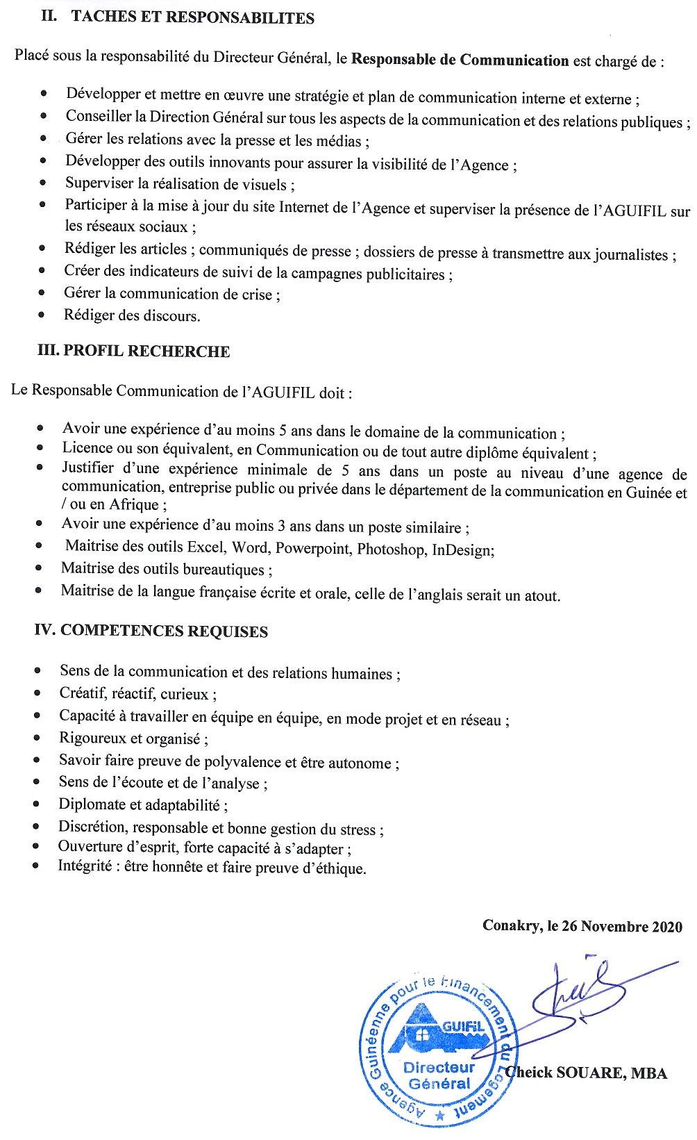 Recrutement en guinée - Aguifil p.2